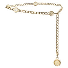 1980s Chanel Rue Cambon Gold Medallion Belt or Necklace