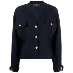 1980s Chanel V-neck Jacket