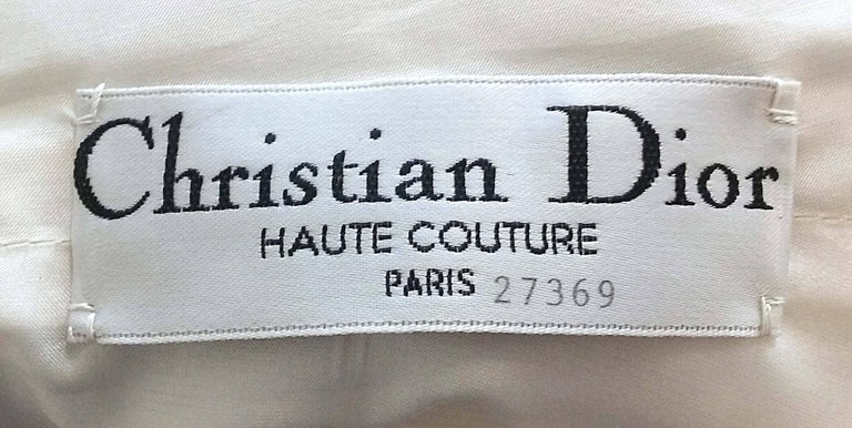 1980s Christian Dior Haute Couture Silk Evening Dress For Sale 1
