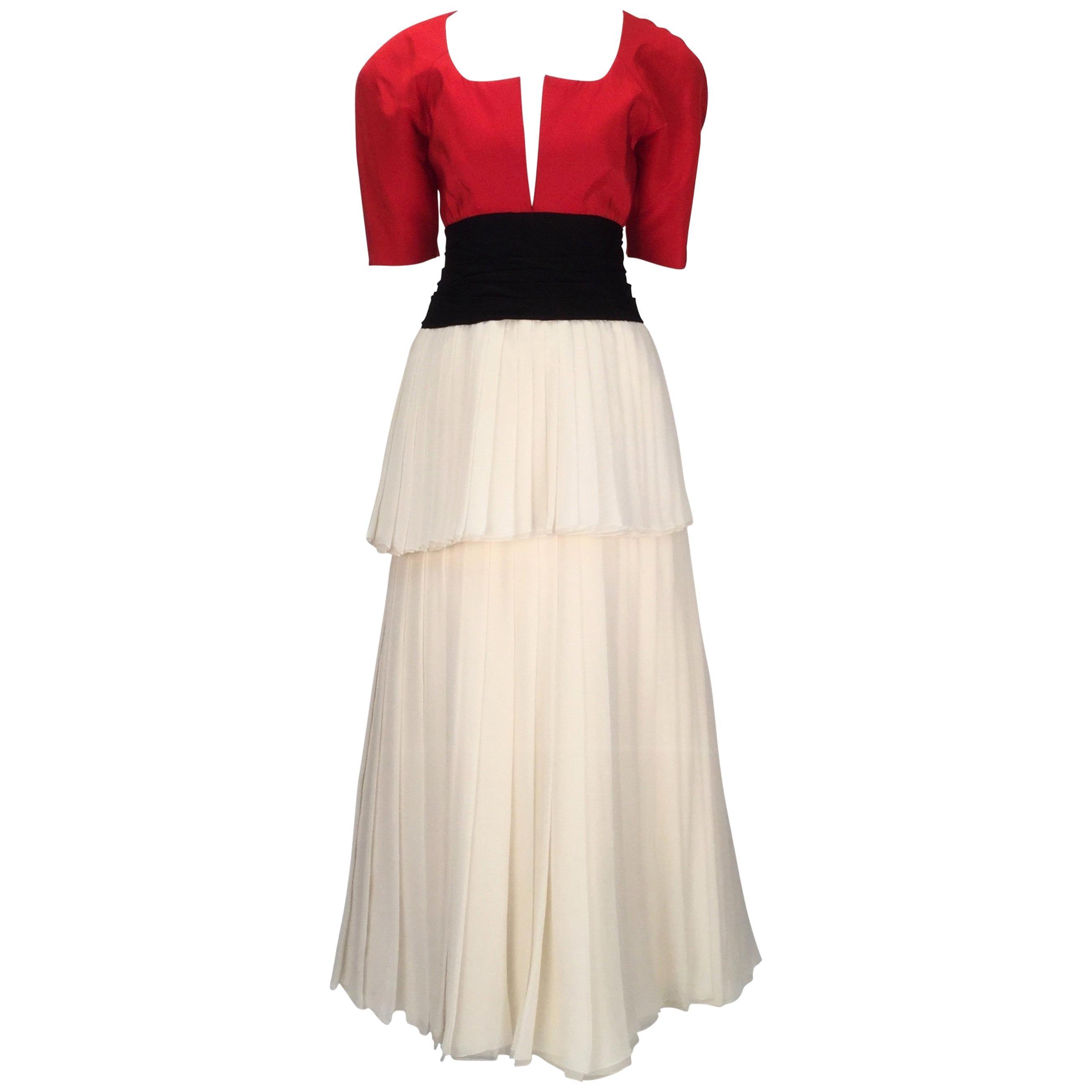 1980s Christian Dior Haute Couture Silk Evening Dress
