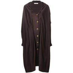 1980s Christian Dior Hooded Coat