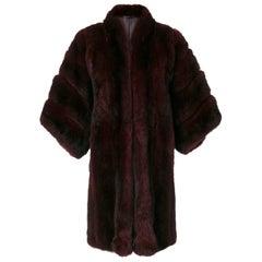 1980s Christian Dior Pine Marten Fur Coat