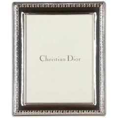 1980s Christian Dior Silver Frame