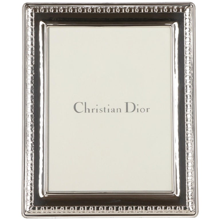 1980s Christian Dior Silver Frame For Sale