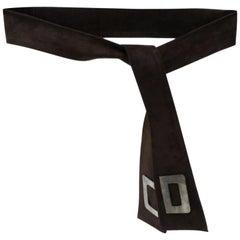 1980s Christian Dior Suede Belt