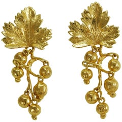 "1980s Claude Lalanne, Vermeil ""Groseilles"" Earrings"