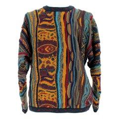 1980s Coogi Australia Multicolor Animalier Wool Vintage Sweater
