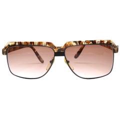 1980's COURREGES tortoise plastic and metal sunglasses
