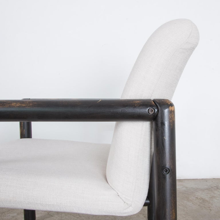 1980s Czech Upholstered Armchairs, a Pair For Sale 6
