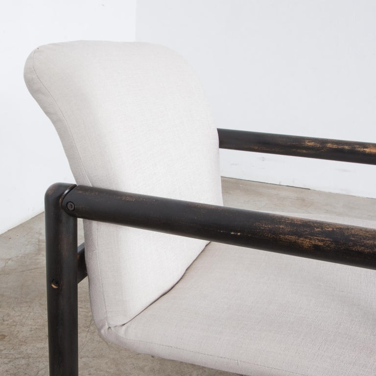 1980s Czech Upholstered Armchairs, a Pair For Sale 9