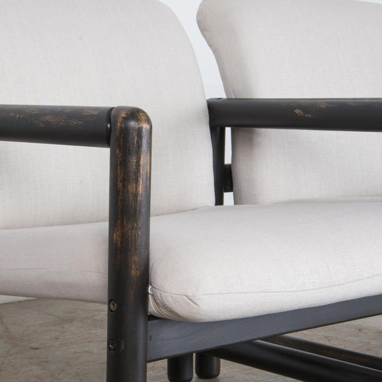 1980s Czech Upholstered Armchairs, a Pair For Sale 2
