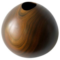 1980s Dan Kvitka Hand Turned Vera Wood Vase