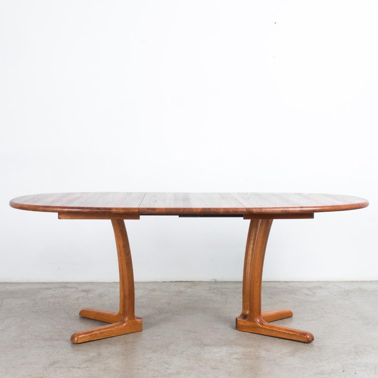 1980s Danish Teak Folding Dining Table For Sale 5