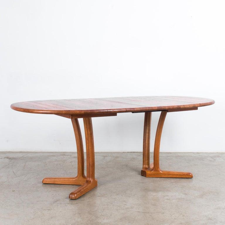 1980s Danish Teak Folding Dining Table For Sale 6