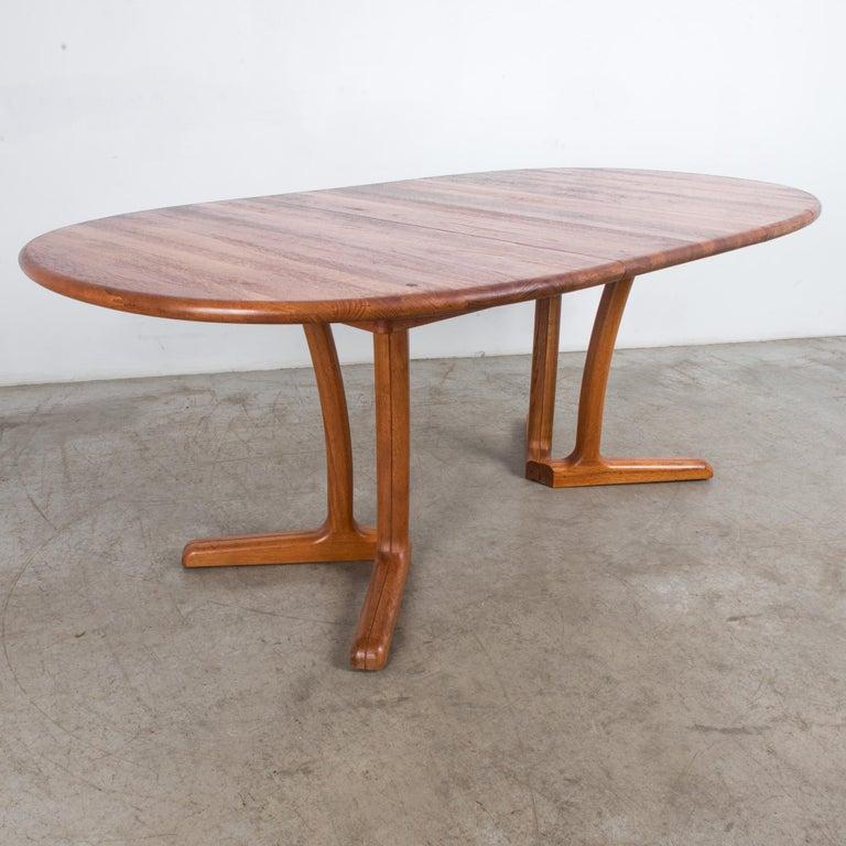 1980s Danish Teak Folding Dining Table For Sale 7