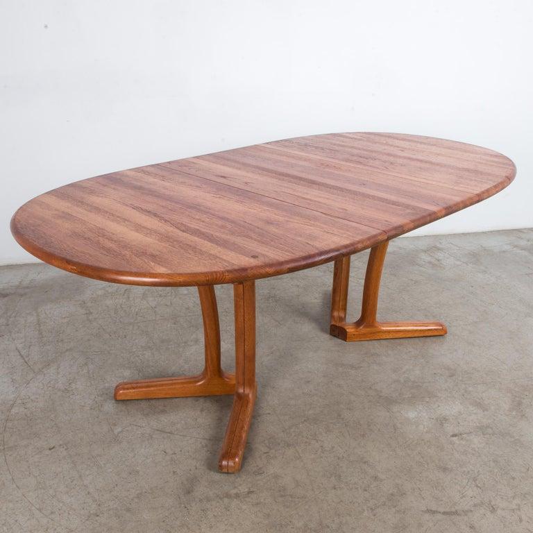 1980s Danish Teak Folding Dining Table For Sale 8