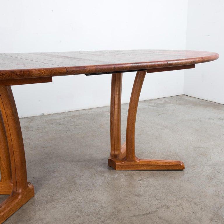 1980s Danish Teak Folding Dining Table For Sale 10