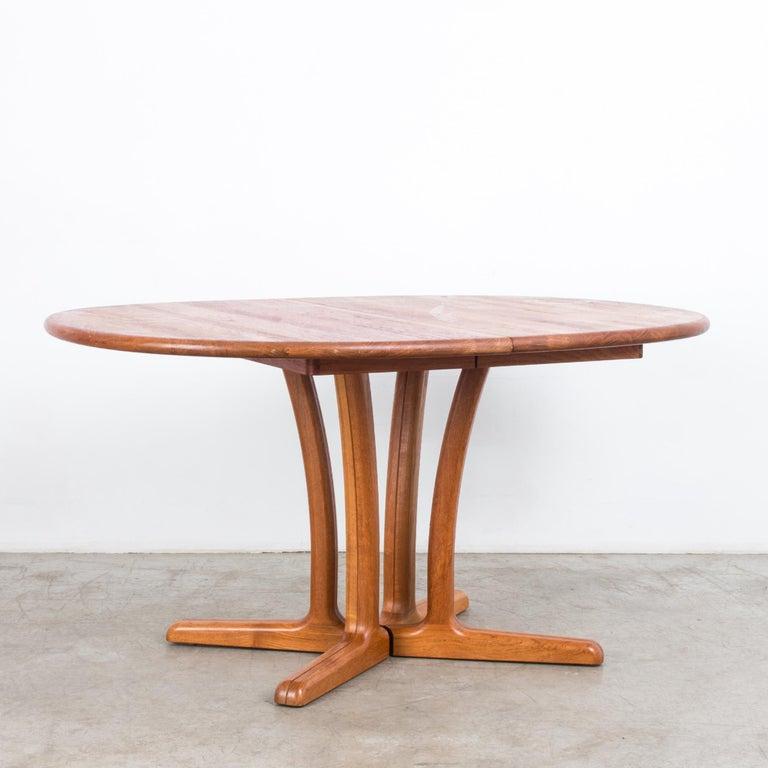 Scandinavian Modern 1980s Danish Teak Folding Dining Table For Sale