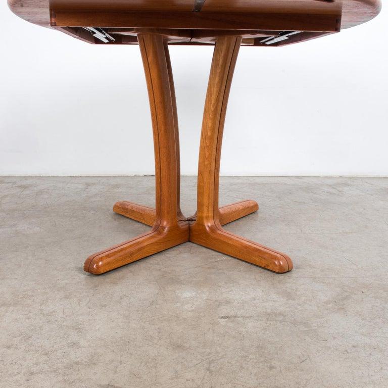 1980s Danish Teak Folding Dining Table For Sale 2