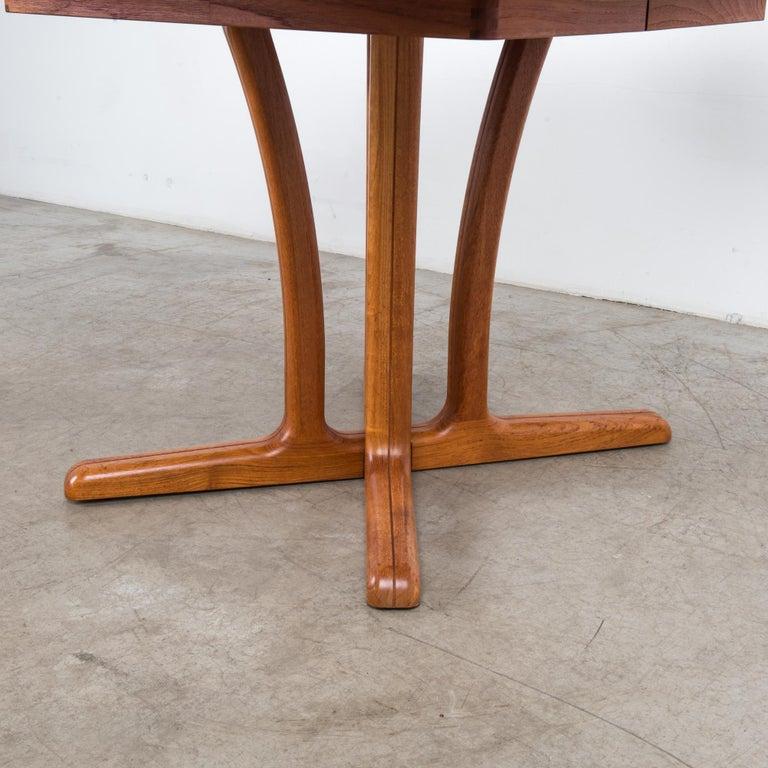 1980s Danish Teak Folding Dining Table For Sale 4