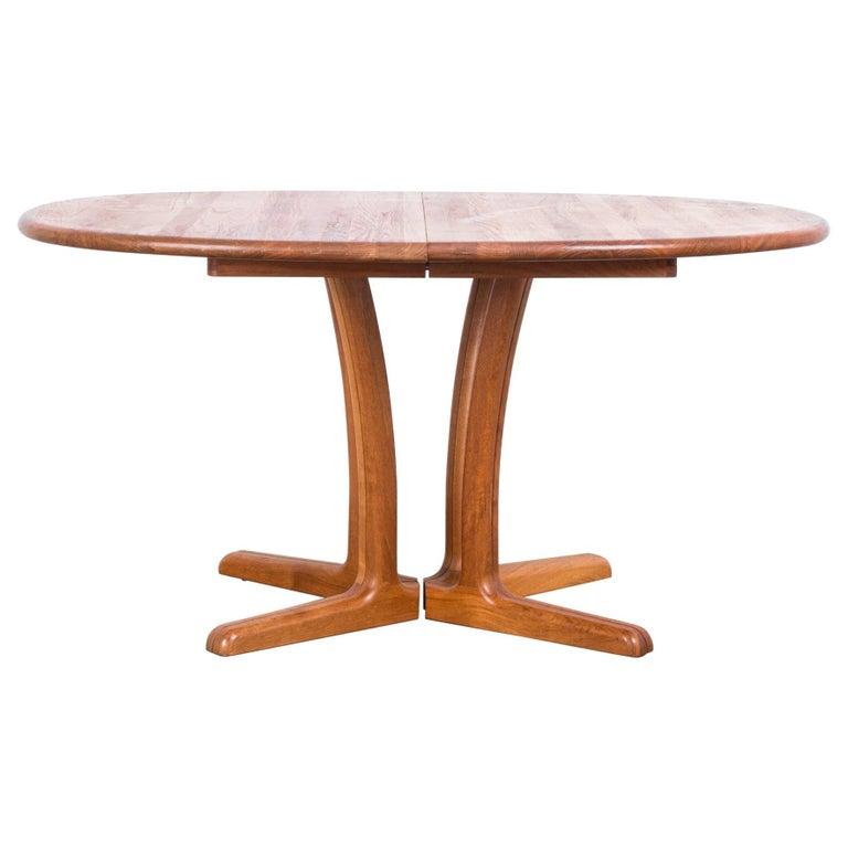 1980s Danish Teak Folding Dining Table For Sale