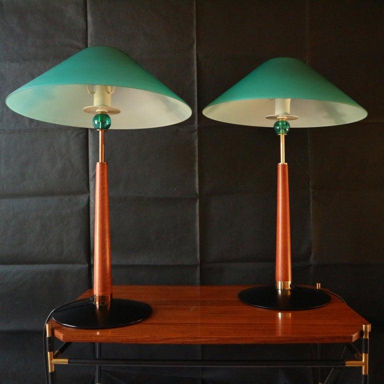 1980s De Majo Italian Murano Pair of Table Lamps 2