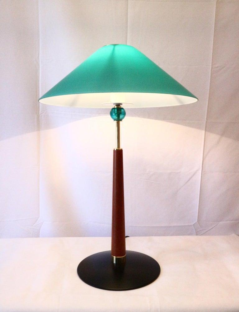 1980s De Majo Italian Murano Pair of Table Lamps 3