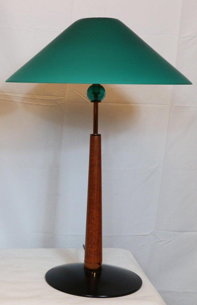 1980s De Majo Italian Murano Pair of Table Lamps 4