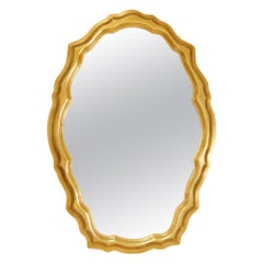 1980s Decorative Art in New York Snow White Oval Shaped Mirror