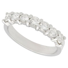 1980s Diamond and Platinum Half Eternity Ring