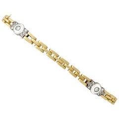 1980s Vintage Diamond and Yellow Gold Bracelet