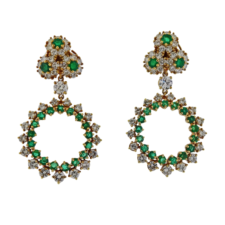 9fed0e027 1980s Les Bernard Classy Crystal Orb Drop Earrings For Sale at 1stdibs
