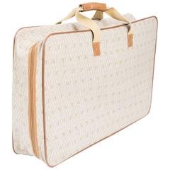 1980s Dior Camel Canvas Monogram Suitcase