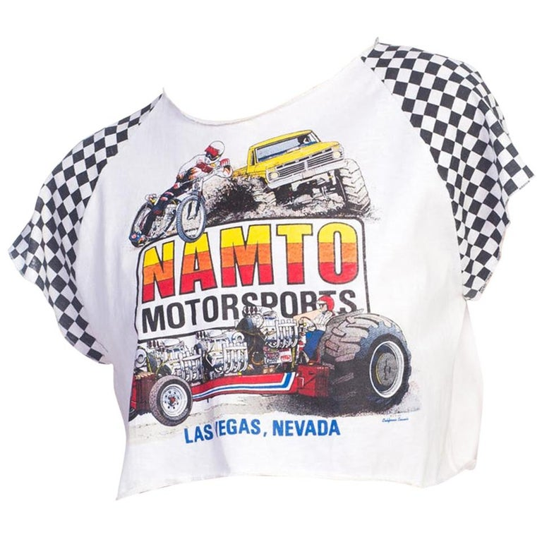 1980S Dirtbike, Monster Truck & Drag Race Cropped T-Shirt For Sale