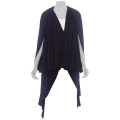 1980'S Draped Jersey Cocoon Jacket