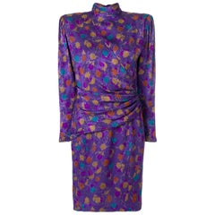 1980s Emanuel Ungaro Floral Dress