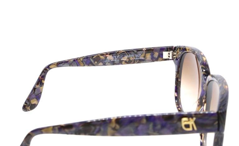 Gray 1980's EMMANUELLE KHANH oversized mosiac sunglasses For Sale
