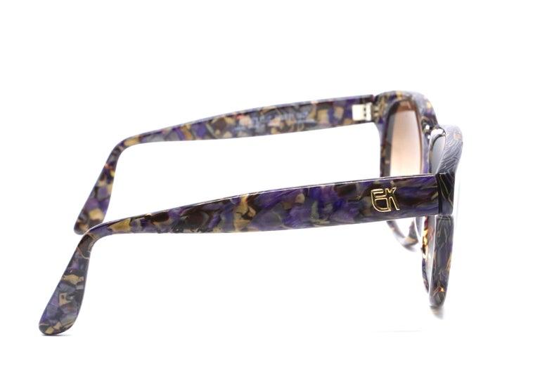 Women's or Men's 1980's EMMANUELLE KHANH oversized mosiac sunglasses For Sale