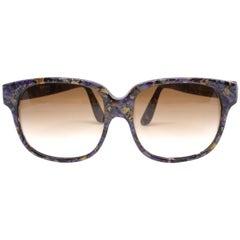 1980's EMMANUELLE KHANH oversized mosiac sunglasses