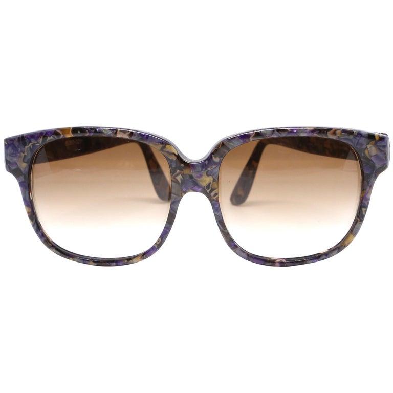 1980's EMMANUELLE KHANH oversized mosiac sunglasses For Sale