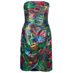 1980s Escada Dress Multicolor Sleeveless Dress
