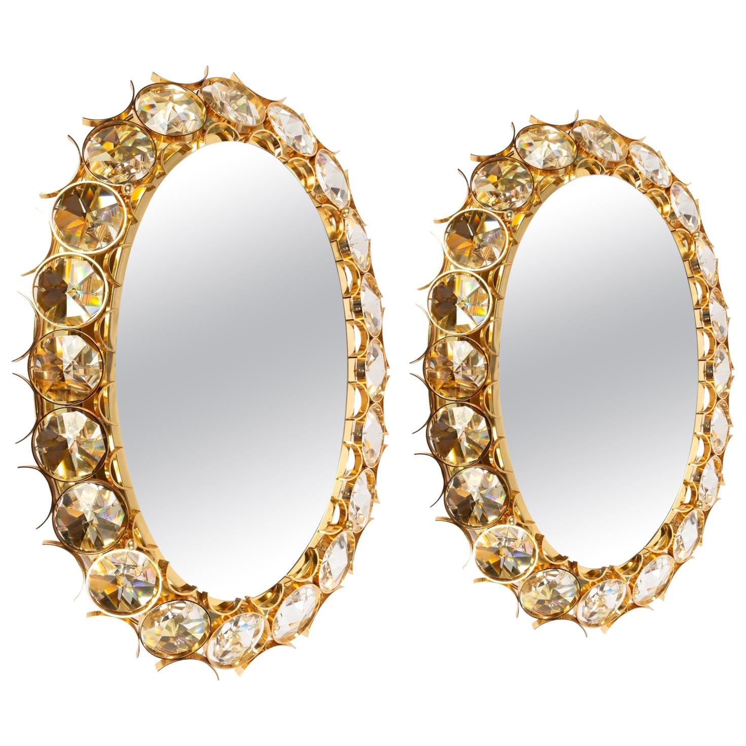1980s Fancy Backlit Jewelry Mirror, Pair