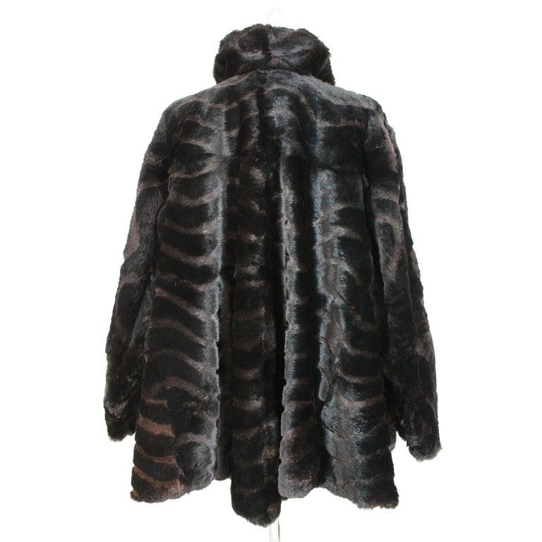 endi fur short jacket vintage 80s. Label