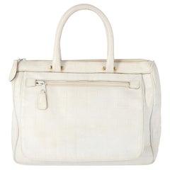 1980s Fendi White Leather Handbag