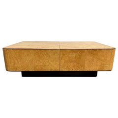 1980s Floating Burl Wood Coffee or Bar Table