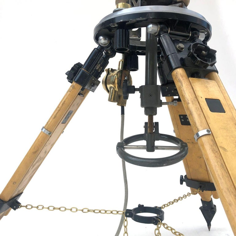 1980s Francis British Brass Search Light Russian Military Gyroscope Tripod Lamp For Sale 3