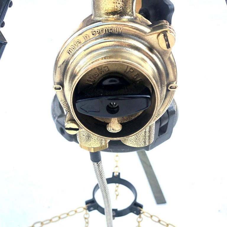 1980s Francis British Brass Search Light Russian Military Gyroscope Tripod Lamp For Sale 7
