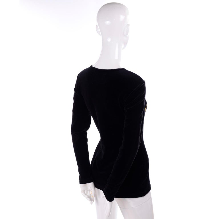 1980s Franco Moschino All This and Glamour Too Vintage Black Top W Red Heart For Sale 2