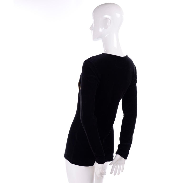 1980s Franco Moschino All This and Glamour Too Vintage Black Top W Red Heart For Sale 5