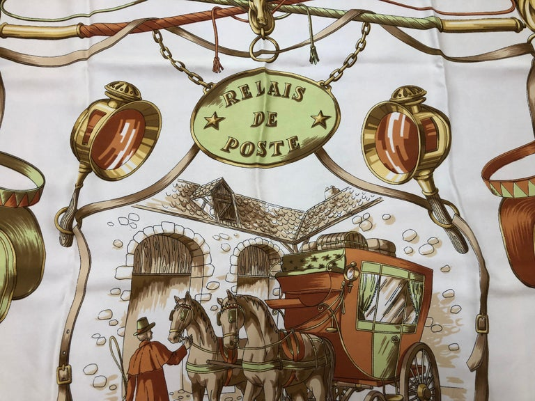 Wonderful design of 18th Century horse and carriage depictions designed by Claude Loraine for Francoise Guerin. The hems are hand rolled and plump, and the condition very good.